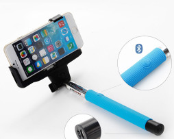 Blue Selfie Stick With Built In Bluetooth