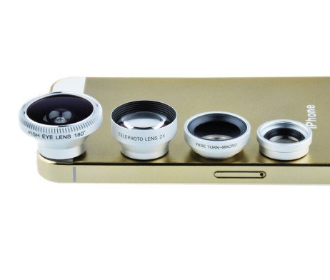 4 in 1 Lens (Wide Angle + FishEye + Micro + Telephoto) for iPhone