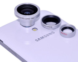 3 in 1 Lens (Fish Eye + Wide Angle + Micro Lens) for Samsung